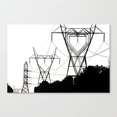 I heart your electricity. Canvas Print