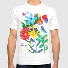 Dreaming in the garden MEDIUM White Mens Fitted Tee