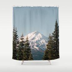 Mt Shasta Morning Shower Curtain