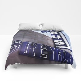 GREYHOUND BUS STATION COLOR Comforters