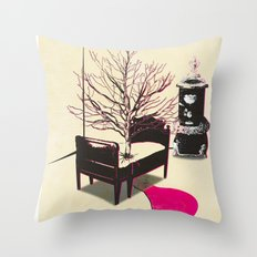 No rest for the restless... Throw Pillow