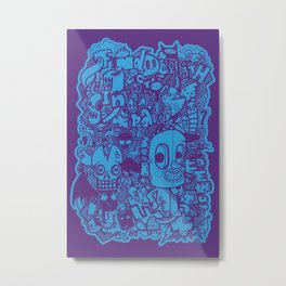 All Day Doodle Metal Print