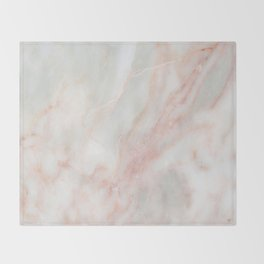 Softest blush pink marble Throw Blanket