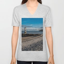 Penmon Point Lighthouse Anglesey Unisex V-Neck