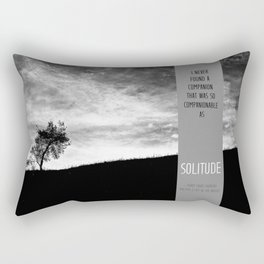 Henry David Thoreau - Solitude Rectangular Pillow