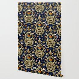 Art Nouveau Floral Pattern Wallpaper