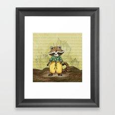 Standa the Racoon Framed Art Print