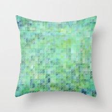 Moody Pixels Throw Pillow