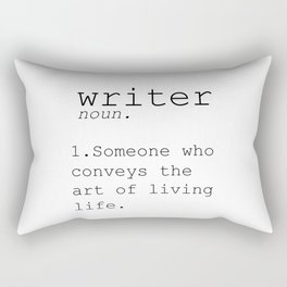 Funny Definition Of Writer Funny Quote Funny Wall Art Printable Typography Print Gift For Writer Rectangular Pillow