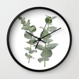 Eucalyptus Branches II Wall Clock