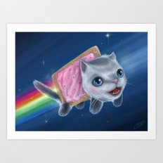 Pop-Tart Cat Art Print