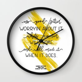What's comin' will come.. Hagrid   J.K Rowling quote Wall Clock
