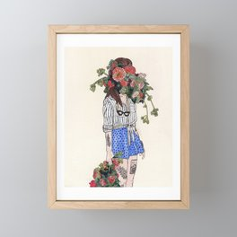 Bouquets and Polka Dots Framed Mini Art Print