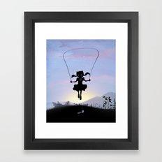 Cat Kid Framed Art Print