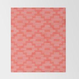 Coral Birdseye Pattern Throw Blanket