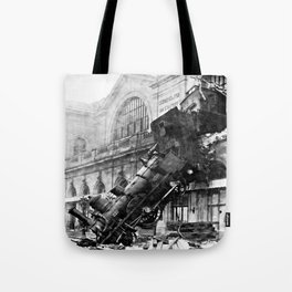 Train wreck at Montparnasse Station (1895) Tote Bag