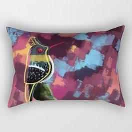 weirded out bird Rectangular Pillow