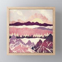 Burgundy Hills Framed Mini Art Print
