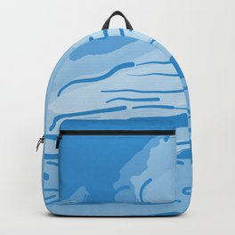 abstract style aurora borealis abswb Backpack