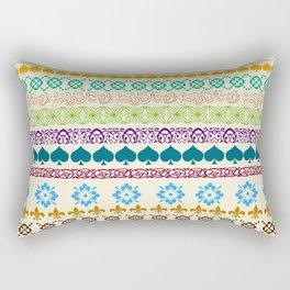 Swedish Sunshine Folk Art Rectangular Pillow
