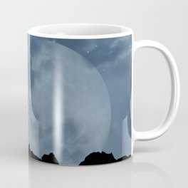 Wolf howling at full moon Coffee Mug