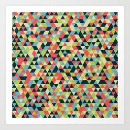 Multi Colored Triangle Pattern Art Print