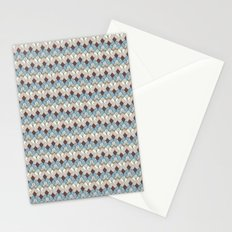 Retro Geometry Diamond Stationery Cards