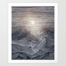 Lines in the mountains X Art Print