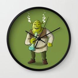 Ogre Smoking Wall Clock