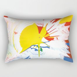 Abstract background by oil paint of red, blue and yellow colors Rectangular Pillow