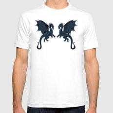 Blue Dragon White SMALL Mens Fitted Tee