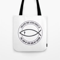 christian Tote Bags featuring Christian Believers by politics