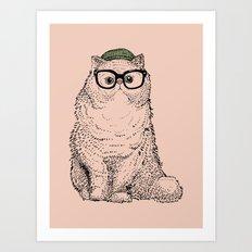 Hipster Persian Cat Art Print