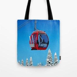 Aspen Colorado Ski Resort Cable Car Tote Bag