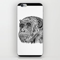 Chimp with a Pearl Earring iPhone & iPod Skin