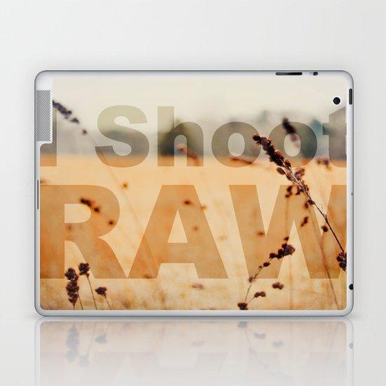 I SHOOT RAW Laptop & iPad Skin