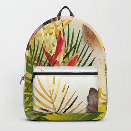Collie Dog sitting in Garden Backpack