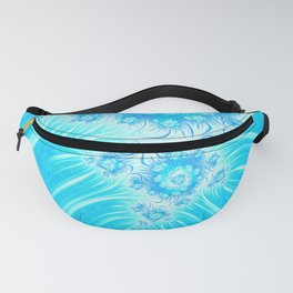 Abstract Christmas Ice Garden Fanny Pack