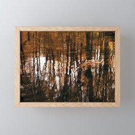 Analog reflection Framed Mini Art Print