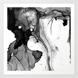 Soft Black Marble Art Print