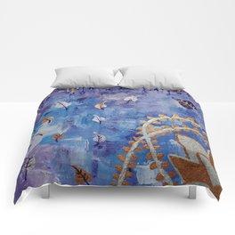 Golden Flower Comforters