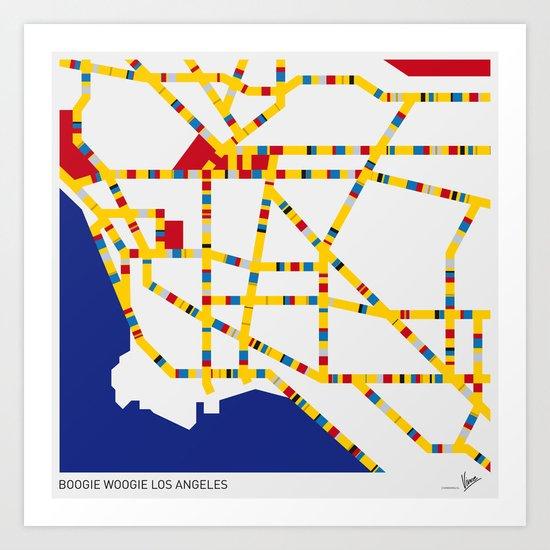 BOOGIE WOOGIE LOS ANGELES Art Print
