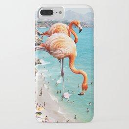 Flamingos on the Beach #society6 #decor #buyart iPhone Case