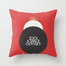 2001 A Space Odyssey - Stanley Kubrick movie Poster, Red Version Throw Pillow