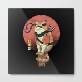 Shinobi Cat Metal Print