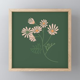 Look for Light - Green + Apricot Framed Mini Art Print