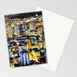 1560 Voyeuristic Vancouver Cityscape Golden Luminous Yaletown Vancouver Stationery Cards