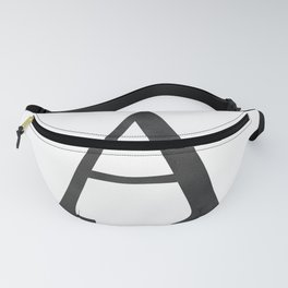 Letter A Initial Monogram Black and White Fanny Pack