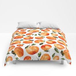 Watercolor tangerines Comforters
