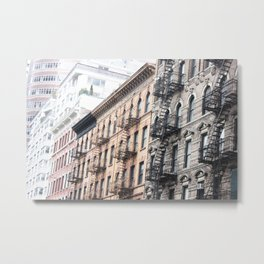 West Village Apartments in Early March Metal Print